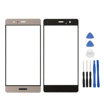 Harga For Huawei P9 Gold Touch Screen Glass Lens Front Outer Glass Lens Replacement Parts - intl