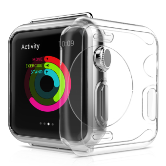 Harga Blusky Full Body Clear Soft Flexible TPU Case with Tempered Screen Protector for Apple Watch Series 1 - 38 mm Clear - intl