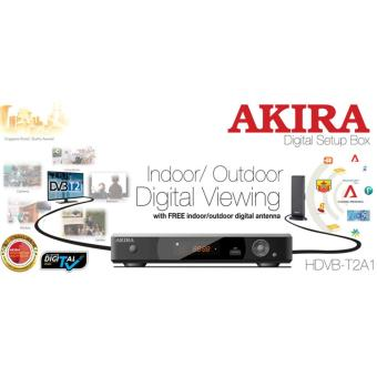 Harga Akira Digital Setup Box HDVB-T2A1 Indoor/Outdoor Digital Viewing with Free Digital Antenna
