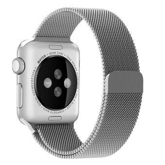 niceEshop 42mm Milanese Magnetic Loop Stainless Watch Band Strap Leather Loop For Apple Watch (Silver) - intl