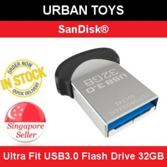 Harga NEW SanDisk Ultra Fit USB3.0 Flash Drive 32GB / Singapore Seller / 5 Years Warranty by SanDisk / Super Fast / Password Protected
