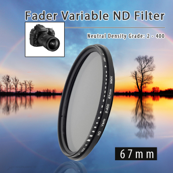 Harga 67mm Fader Variable ND Filter Neutral Density ND2 ND4 ND8 ND16 to ND400