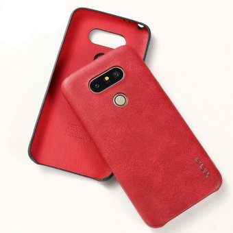 Harga X-LEVEL Vintage Series PU Leather Coated Hard Shell for LG G5 / G5 SE - Red - intl