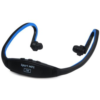 Harga Ansee New Style TF Card On-head Sports MP3 Player (Blue)