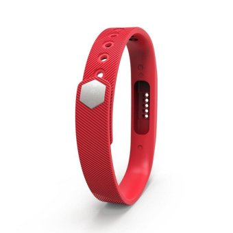 Harga Fitbit Flex 2 Bracelet Strap Replacement Band S(Red) - intl