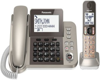 Panasonic KX-TGF350N Corded + Cordless Dect 1 Handset Landline Telephone With Talking Caller ID and Answering System (Export)