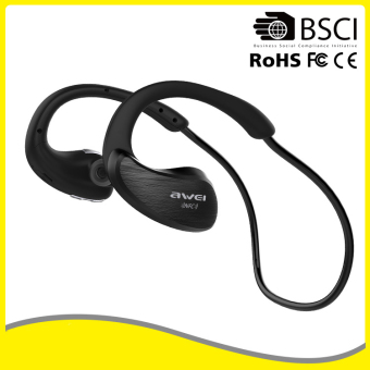 Harga Awei A885BL Sports Wireless Bluetooth Stereo Headset Headphone Earphone Universal Hands-free (Black) - intl