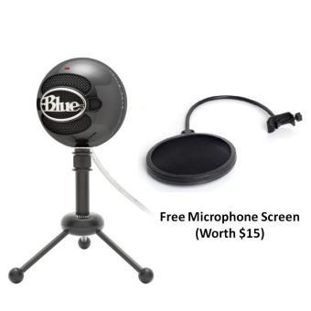 Harga Blue Microphones Snowball iCE USB Microphone Glossy Black With Free Black Screen