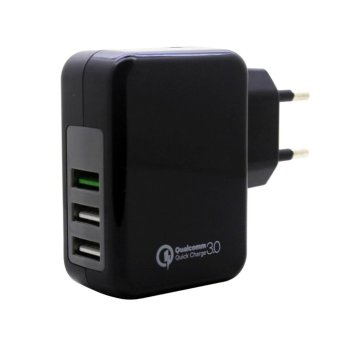 Harga EU Plug 23W Qualcomm QC 3.0 3Quick Charger USB 5V And 9V 12V 4A - intl