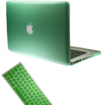 "Harga Matte Hard Plastic Protective Case + Keyboard Cover for Apple 13"" (13.3"") MacBook Pro Laptop - Green"