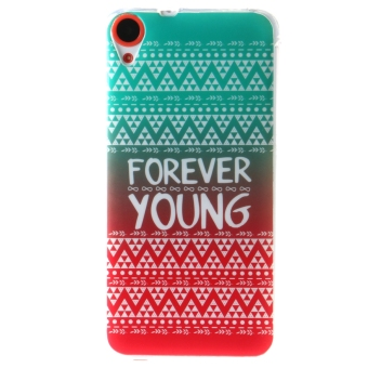 Harga Ultra Thin Soft TPU Phone Back Case Cover For HTC Desire 820 (FOREVER YOUNG)