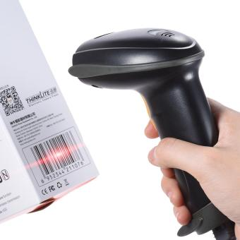 Harga USB Wired Handheld 1D Barcode Bar Code Scanner Reader for Supermarket Library Express Company Retail Store Warehouse - intl