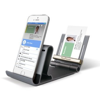Harga PenPower WorldCard Mobile Phone Kit - Smartphone stand business card holder and reader.