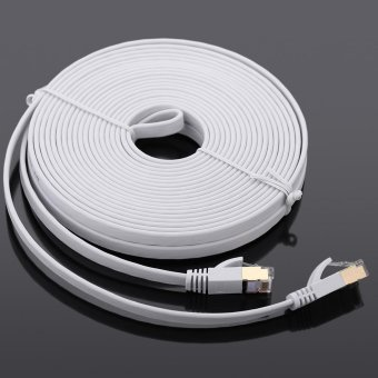 Harga High-quality 10.0m High-speed Cat7 SSTP RJ45 Network LAN Cable Internet Flat Network Cable - intl