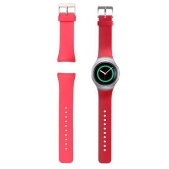 Luxury Silicone Watch Band Strap For Samsung Galaxy Gear S2 SM-R720 (Red)