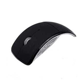Harga Wireless Foldable Arc Optical Mouse (Black)