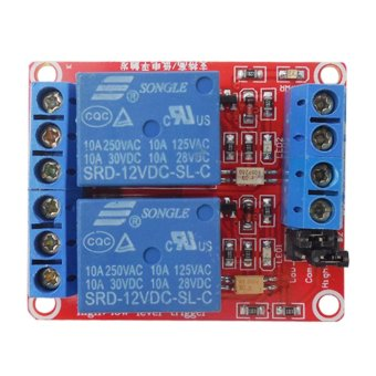 Harga 12V 2-Channel Relay Module Optocoupler H/L Level Triger(Export)