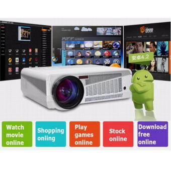 Harga HTP HD 1280X800, 3000 lumens, Wifi, Bluetooth, Android Internet Projector