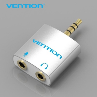 Harga Vention 3.5mm Audio Splitter Connector 1 Male to 2 Female Adapter For Headphone PC Mobile Phone Mp3 Mp4 - intl