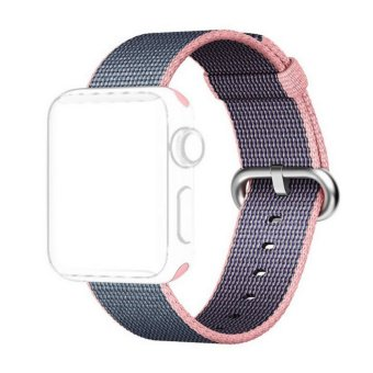 Harga Apple Watch Strap 38mm,Premium Nylon Woven Smart Watch Replacement Wrist Watch Band with Adjustable Buckle for New Apple iWatch Series 2/ Series 1 - intl
