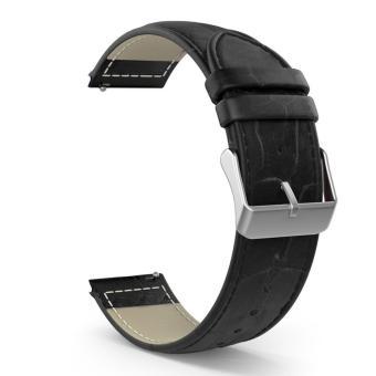 Genuine Leather Watch Band Strap For Samsung Galaxy Gear S2 Classic SM-R732, Black