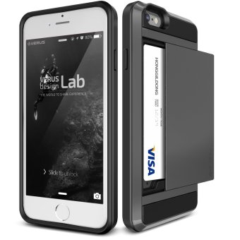 Harga Slider Armor Card Holder Case for iPhone 6/ 6S (Black) - intl