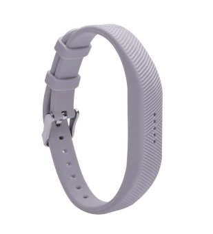 Harga ARST Silicone Replacement Strap Bands Wristband Bracelet with Metal Buckle for Fitbit Flex 2 Fitness Band Accessory - intl