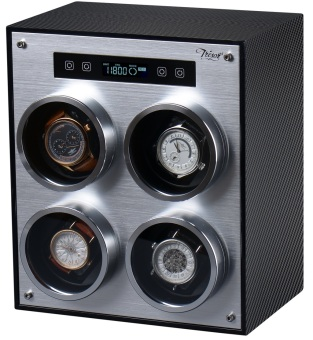 Harga Tresor 4-Slot Watch Winder (Carbon Fibre)