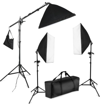 "Harga Wego 3x 1250W 5500K 20""x28""/50x70cm Softbox Continious Fluorescent Photo Video Studio Lighting Kit with Carrying Case for Christmas Family Portraiture, Art and Product Photography - intl"