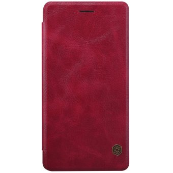 Harga NILLKIN Qin Series Genuine Luxury Leather Case cover phone bags for xiaomi mi note (Wine Red) - intl