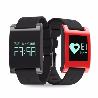 Harga DM68 Heart Rate Smart Bracelet IP67 Waterproof Blood Pressure SmartBand Fitness Tracker Wristbands for iOS Android - intl