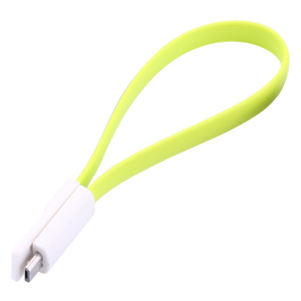 Harga 20cm Magnet Flat Short Micro USB Data Charger Cable Cord For iPhone Android Phone (Green)