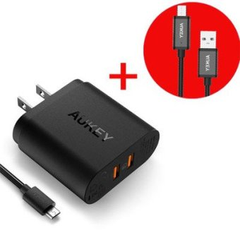 Harga Aukey double mouth fast charger