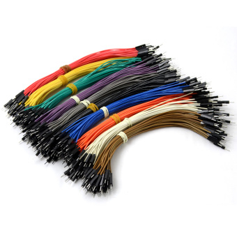 Harga 40pin 20cm male to male Dupont cable Wire Color Jumper Cable For Arduino-