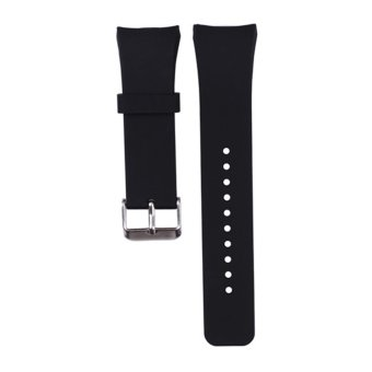 Silicone Watch Band for Samsung Galaxy Gear S2 SM-R720 (Black) (EXPORT)