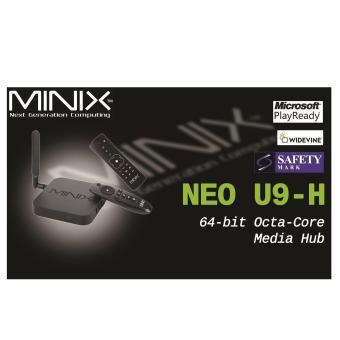 Harga Android MiniX Neo U9-H (Newest) 4K TV Media Box + A2 Lite Air Mouse + IPTV(Black)