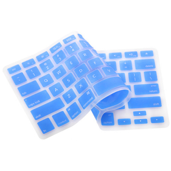 Silicone Keyboard Cover Skin for Apple Macbook Pro MAC 13 15 17 Air 13 (Light Blue)