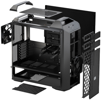 MasterCase 5 Mid-Tower Case with FreeForm™ Modular System with Dual Handle Design by Cooler Master