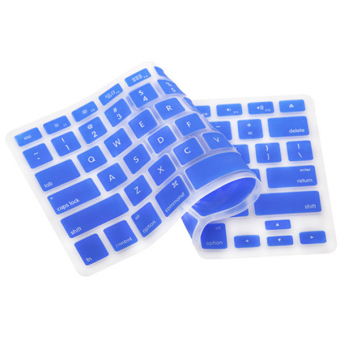 Silicone Keyboard Cover Skin for Apple Macbook Pro MAC 13 15 17 Air 13 (Dark Blue)
