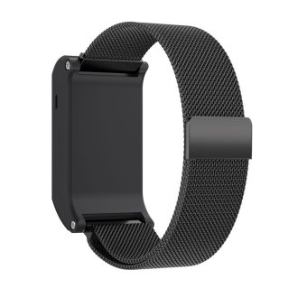Harga Bluesky Milanese Magnetic Loop Stainless Steel Band For Garmin vivoactive HR watch band, Black