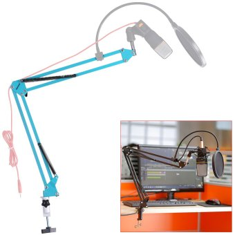 Harga Neewer NW-35 Adjustable Recording Microphone Suspension Scissor Arm Stand (Blue)