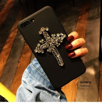 Harga New goddess rhinestone apple 7plus iphone6s phone shell plus silicone black soft shell mobile phone shell 5.5