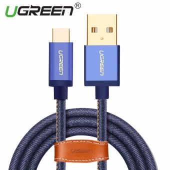Harga UGREEN Type C Cable Denim Braided Sync and Fast Charging Data Cable for Android Mobile Phone - 2M - intl