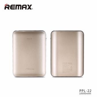 Harga Remax 10k mAh Mink PPL-22 PowerBank (BLACK / WHITE / GOLD)