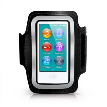 Harga HKS Sport Running Gym Soft Armband Cover Case for iPod Nano 7th Generation Black - intl