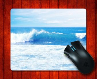 Harga MousePad Blue Ocean Waves Nature for Mouse mat 240*200*3mm Gaming Mice Pad - intl
