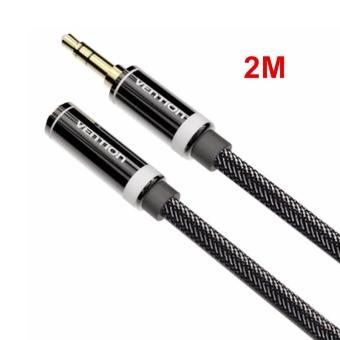 Harga Vention 2M 3.5mm Audio Extension Cable Stereo Male to Female Aux Phone Cable Headphone Adapter for iPhone MP3 CD Player Radio (…) - (Intl)