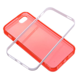 Harga LED Blink Light UP Incoming Call PC+TPU Case Cover For Apple iPhone 5/5s (Red)