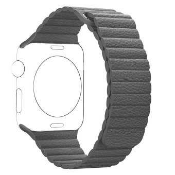 Genuine Leather Loop strap Bracelet Replacement watch Band for iWahtch Apple Watch & Sport & Editio,Grey 42mm - intl