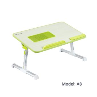 Harga XGear A8 Laptop Foldable Desk Portable Stand with USB cooler - Green